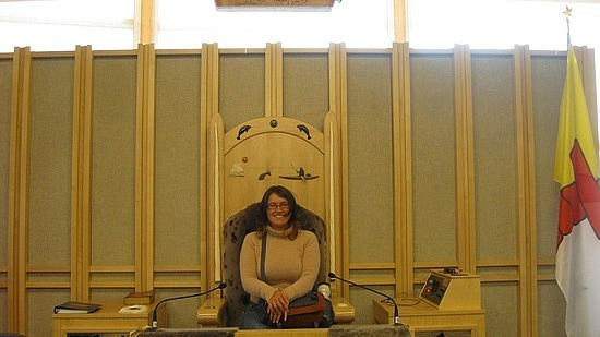 Me in the Speaker's chair