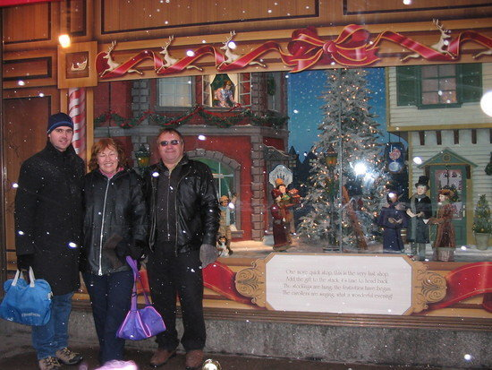 Chris, Mom, Dad @ doll display