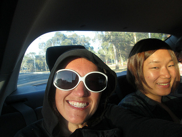 Me in the car with Shoko