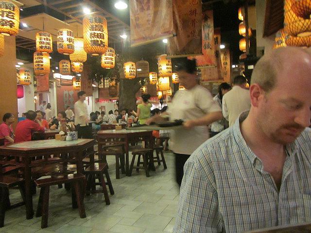 Ranald at the restaurant