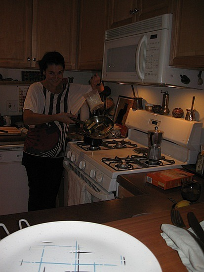 Suzanne cooking up a storm
