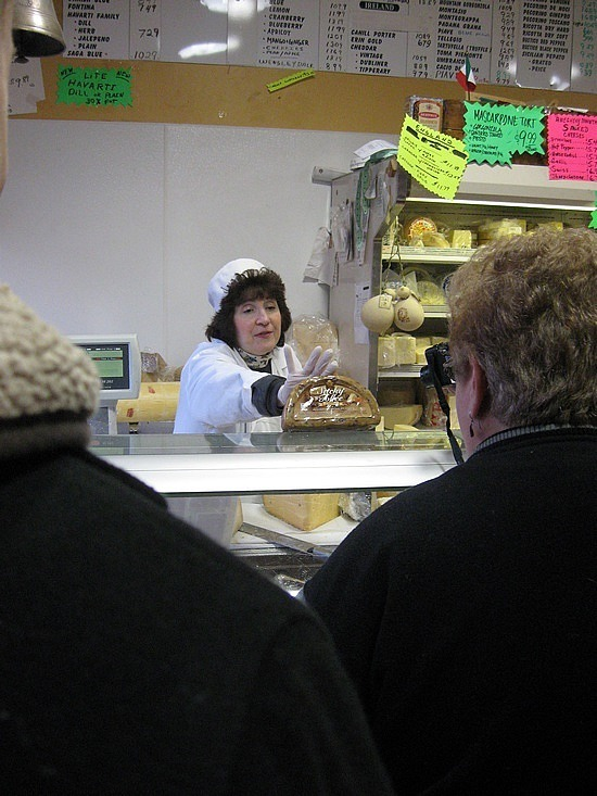 The cheese lady