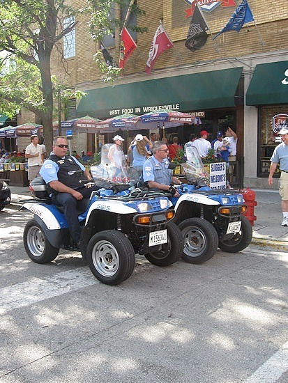 Police on ATVs!