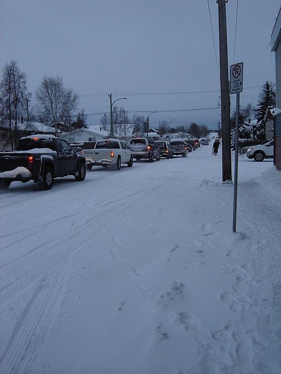 Rush hour in Yellowknife