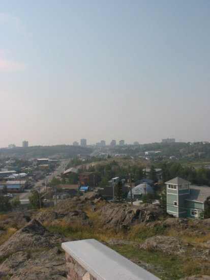 Yellowknife from Pilots' monument