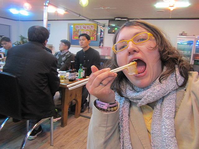 Me vs. sashimi