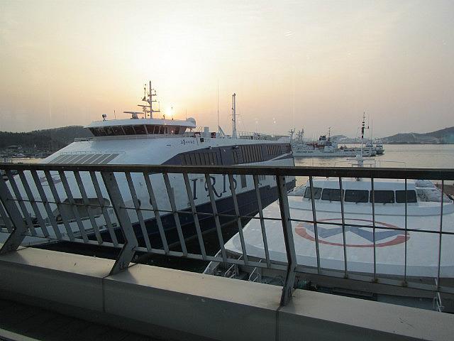 Ferry boats in Mokpo