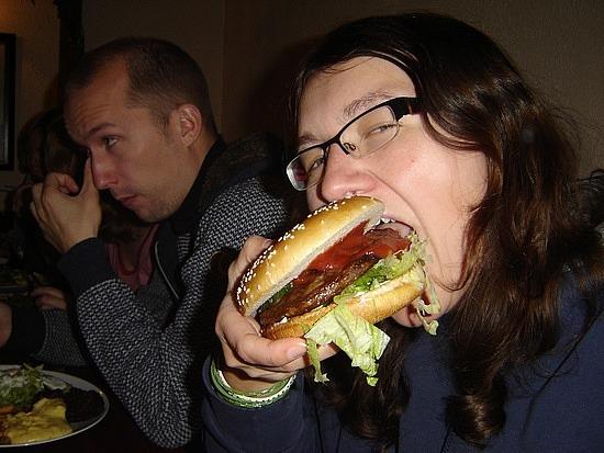 Me vs. burger