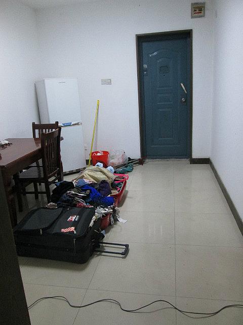 Front hallway with fridge?