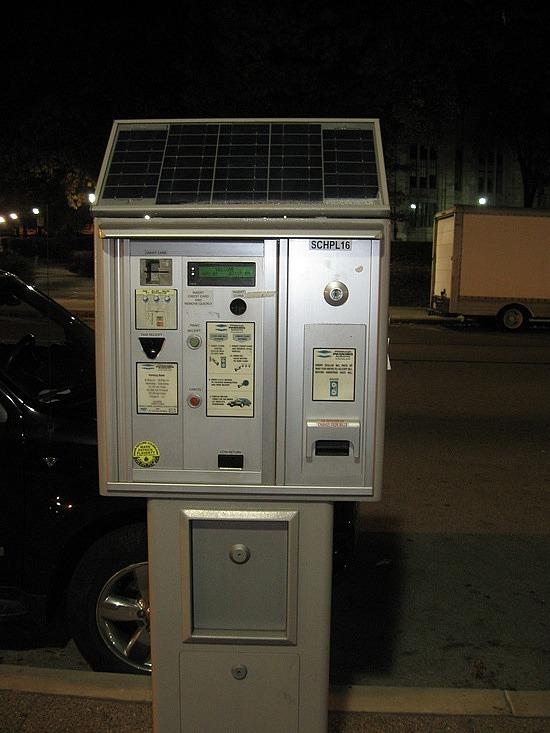 Solar powered parking meter!