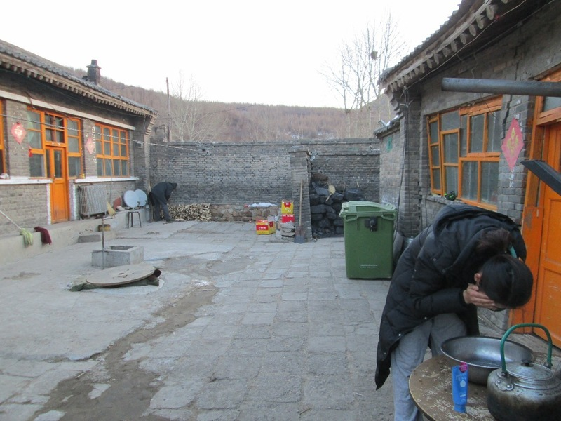 The homestay courtyard