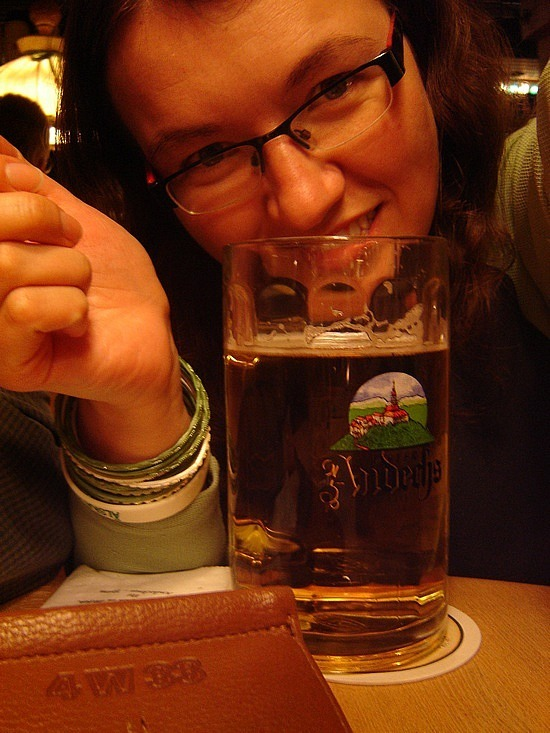 The beer in Germany is awesome