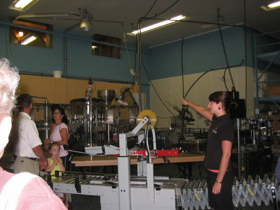Bottling facilities at Gray Monk Winery