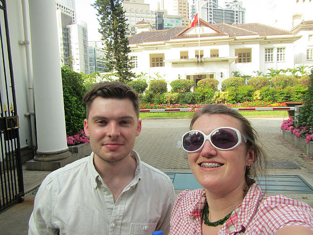 me and Nick and government house