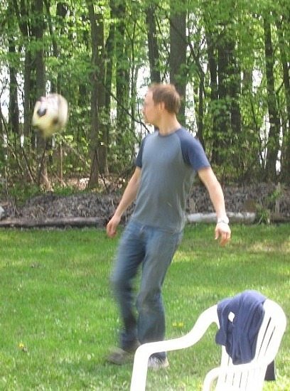 Jan-Mark playing soccer
