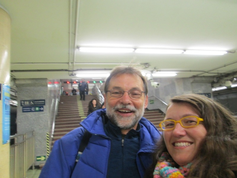 Me and Brian in the subway
