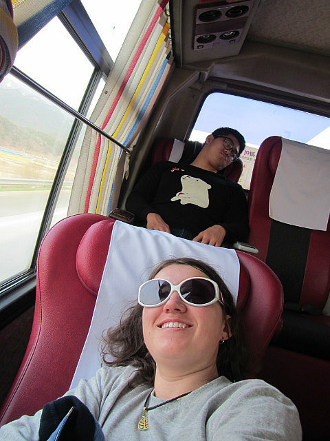 The nice bus seats!