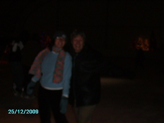 Me and mom skating but blurry