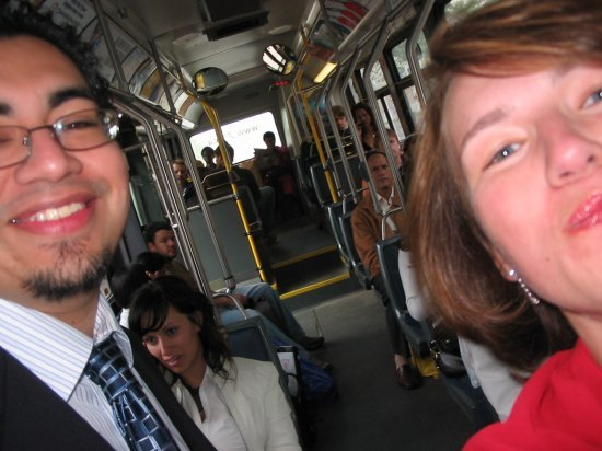 Me and Dave on the bus