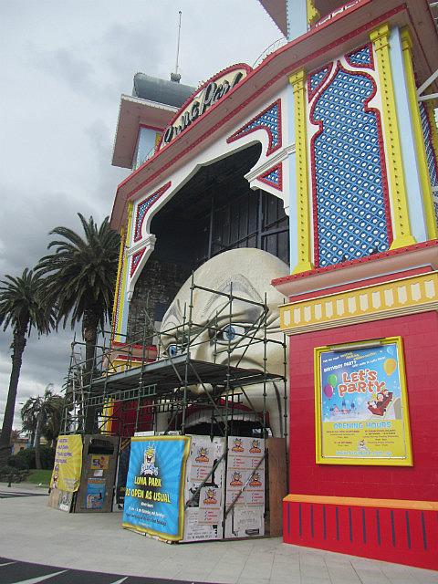 Luna Park under construction