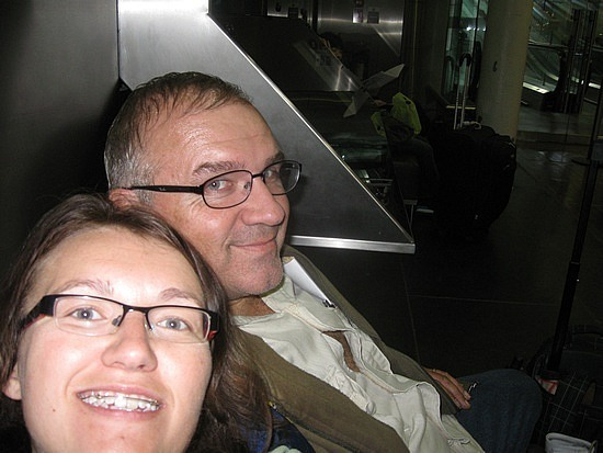 Me and dad in Eurostar lounge