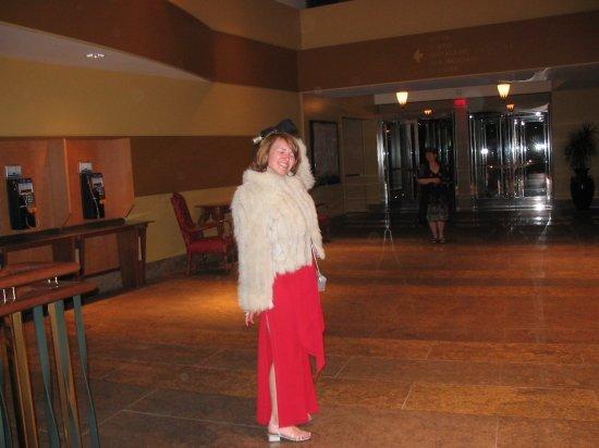 Me and ugly fur coat   umbrella