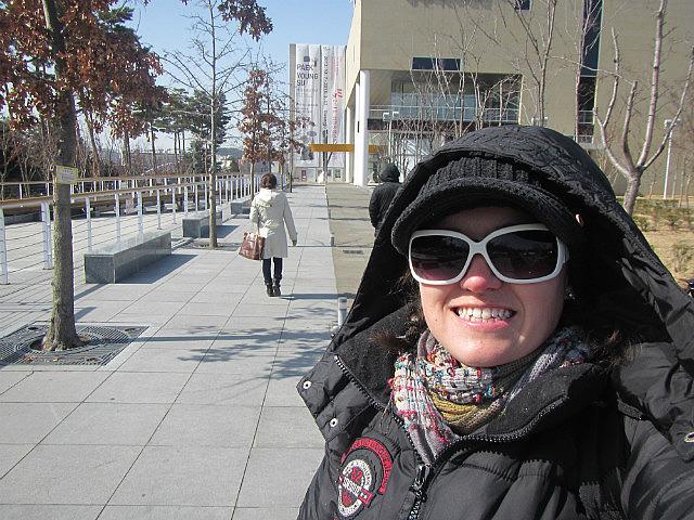 Me outside art gallery