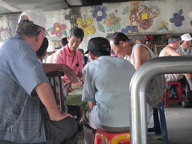 Old men gambling