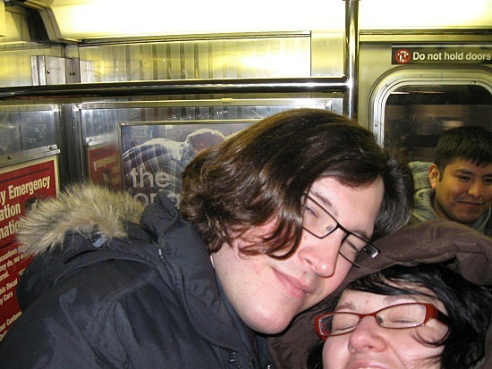 Keith and me on the subway