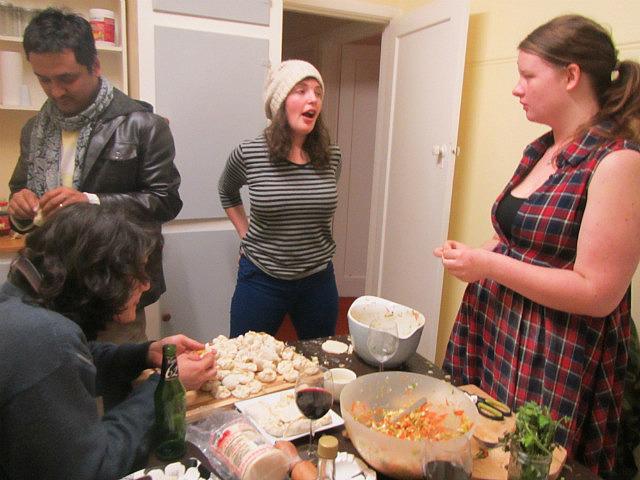 Making the dumplings