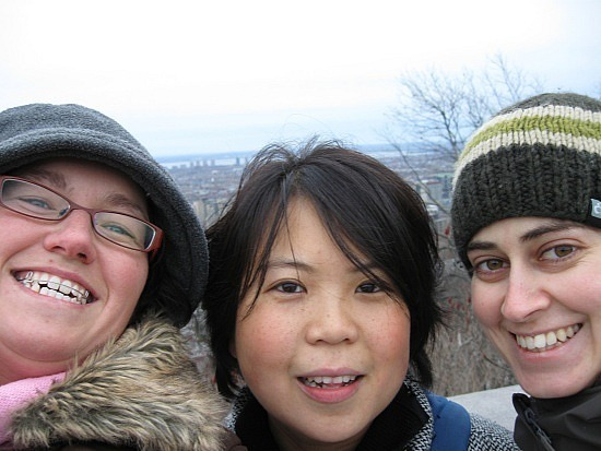 Me, Wai-Yin and Valerie at the top
