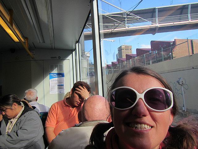 Me on the train again