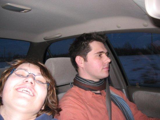 Chris driving
