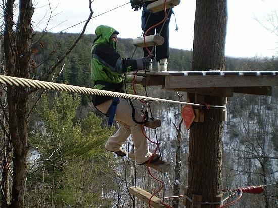 Lafleche ziplining