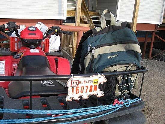 ATV licence plate