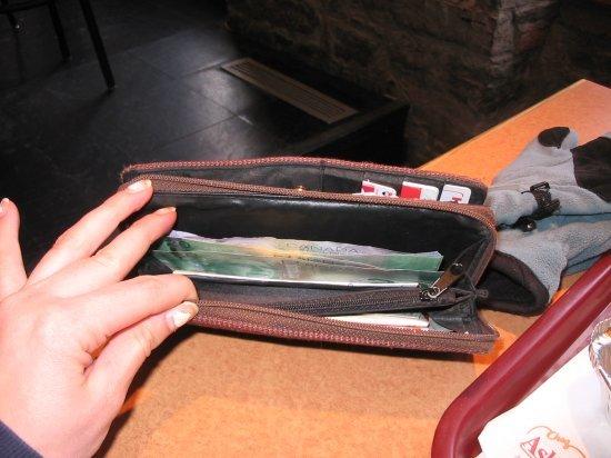 Full wallet...
