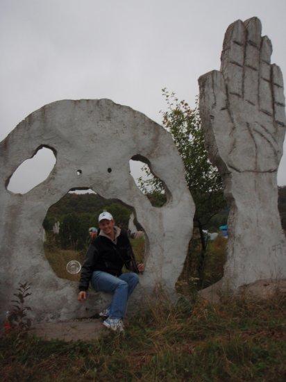 Me vs. sculpture