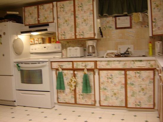 The garish kitchen