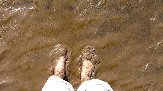 My feet vs. mud