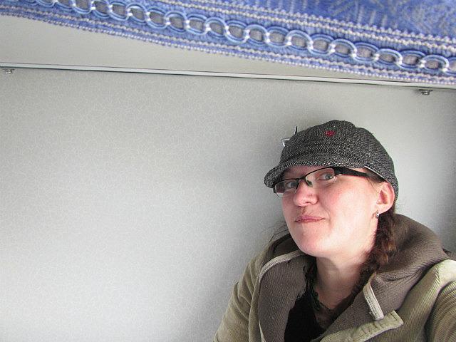 Me on sleeper train