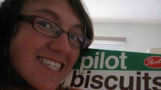Me vs. pilot biscuits