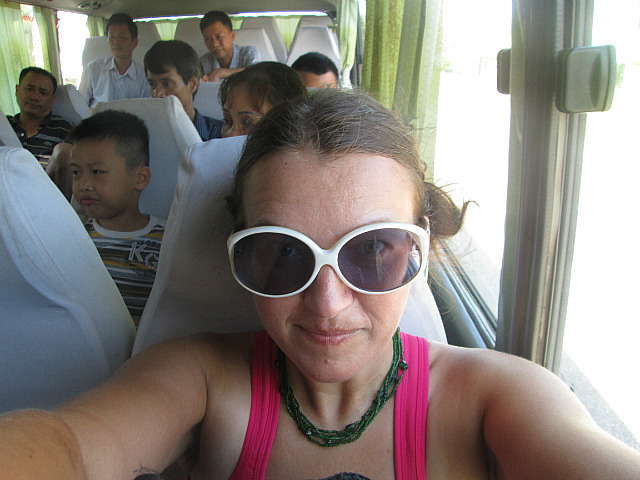 Me on the bus