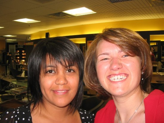Me and my hairdresser Jessica (Dave's sister)