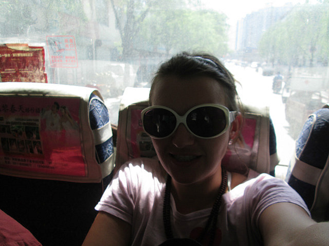 On the bus to Yujiacun