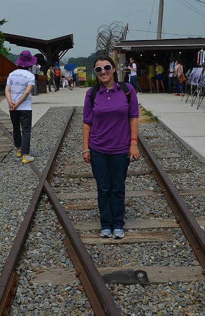 Me on railway tracks