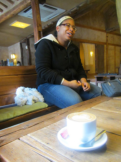 Nicole at Joon's Cafe