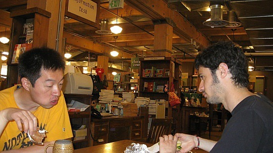 Adam and Sylvain at Tattered Cover