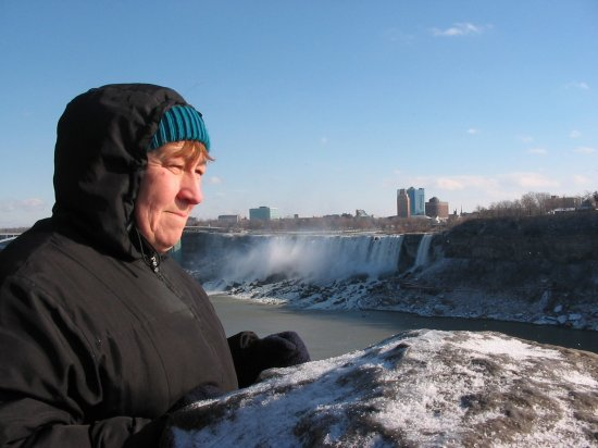 Mom and American falls