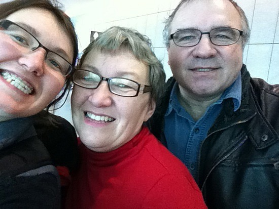 Me, mom, dad at the airport