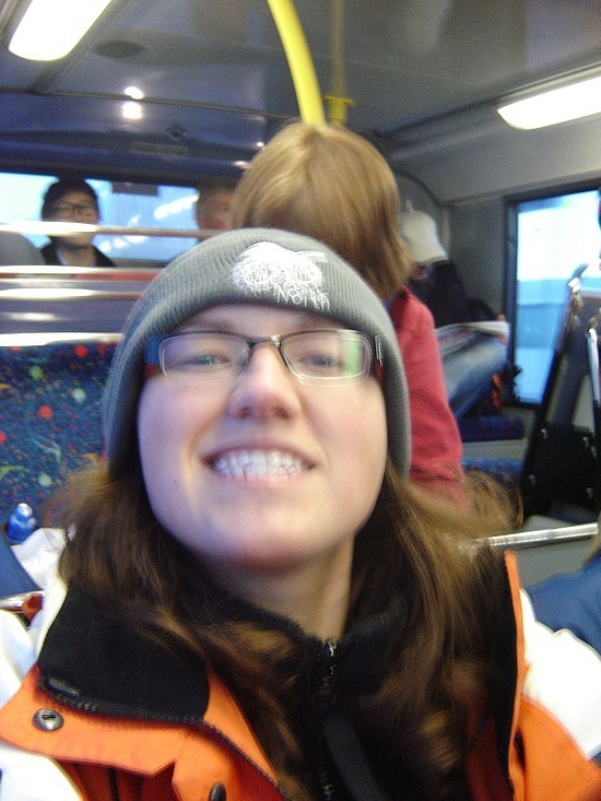 On the bus to Dublin